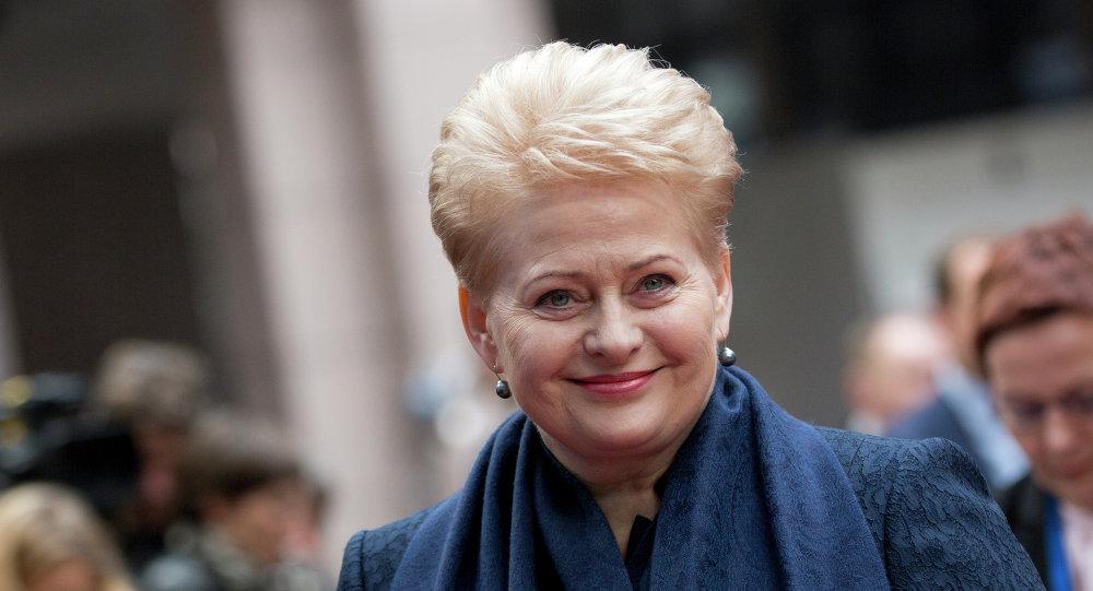 Prezydent Litwy Dalia Grybauskaite