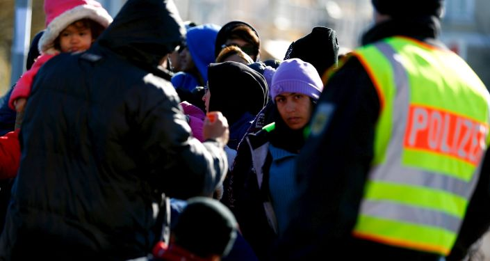 Uchodźcy na austriacko-niemieckiej granicy