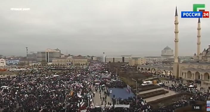Milion osób przyszło na wiec w stolicy Czeczenii