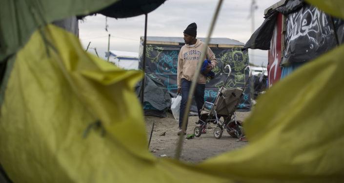 Obóz dla uchodźców w Calais, Francja