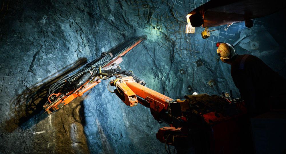 Kompleks tunelowy w kopalni miedzi.