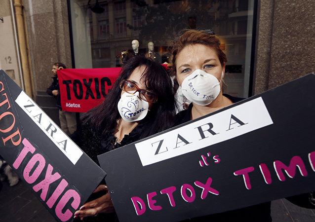 Greenpeace oskarża wiele marek modowych o stosowanie niebezpiecznych substancji