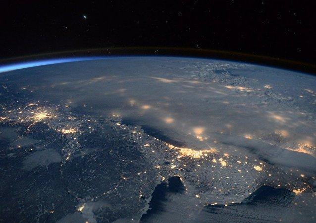 Astronauta opublikował zdjęcie burzy śnieżnej, jaka przeszła przez USA