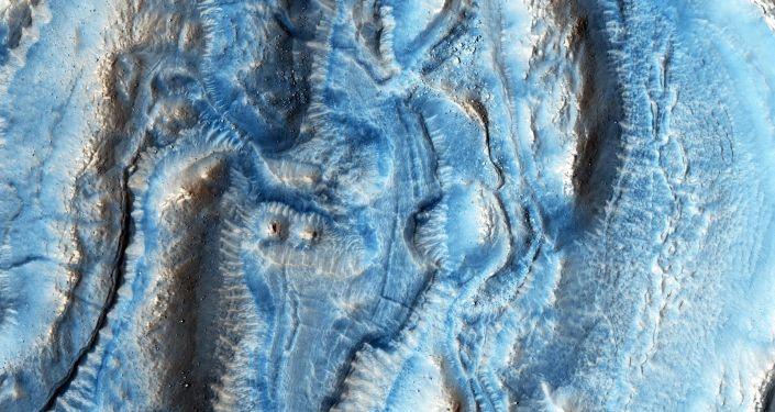 Zdjęcie jednej części terytorium Marsa