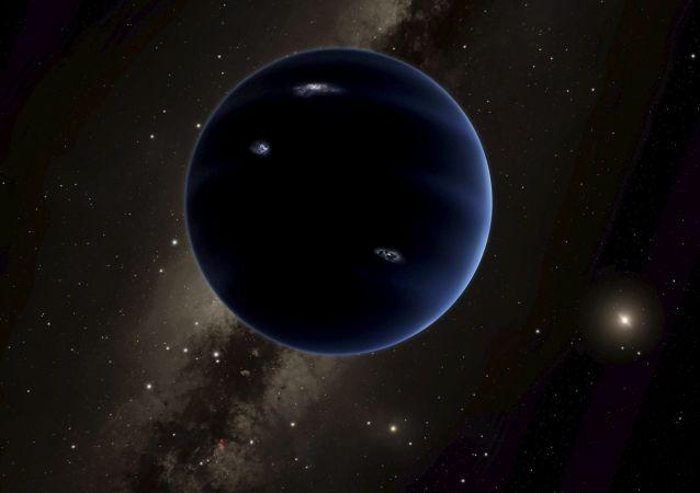 Ilustracja przypuszczalnie nowej planety układu Słonecznego Planety 9