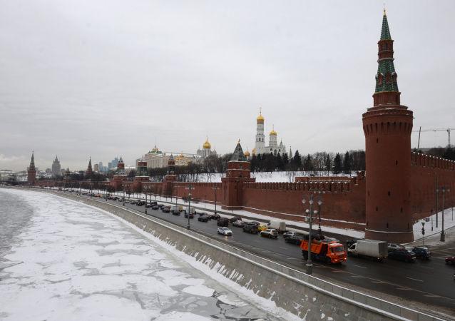 Widok na Kreml w Moskwie