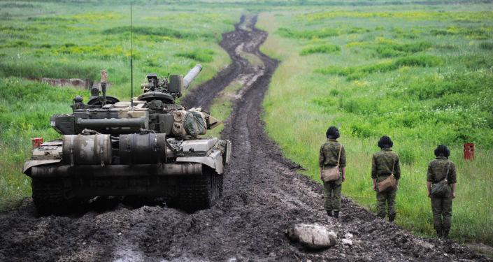 Załoga czołgu T-90 w Osetii Północnej