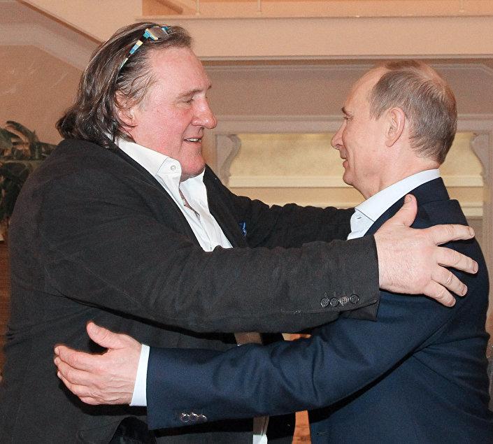 Gérard Depardieu i Władimir Putin spotkali się  w Soczi, 5 stycznia 2013