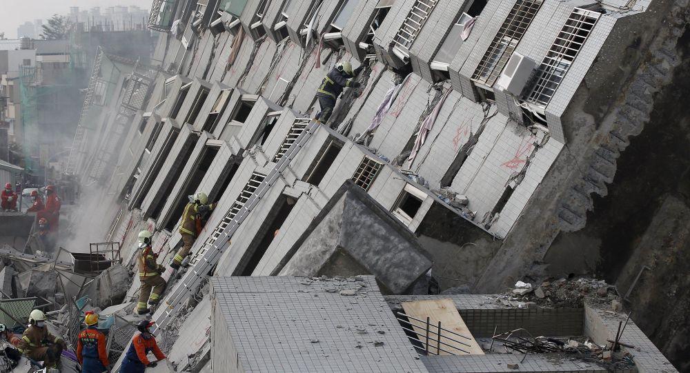 Skutki trzęsienia ziemi na Tajwanie