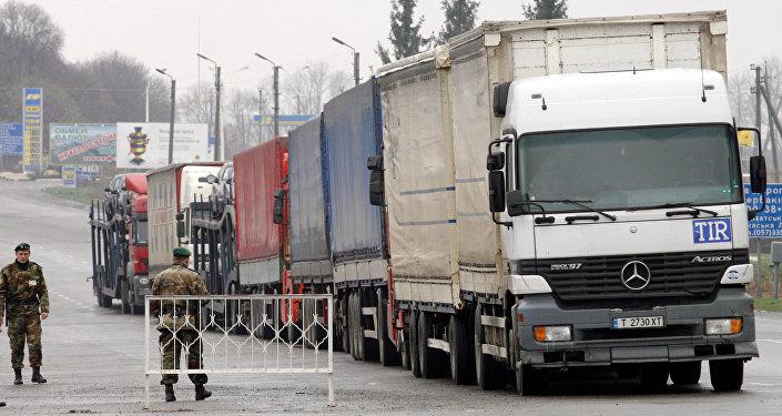 Przejście graniczne Hoptivka między Rosją a Ukrainą
