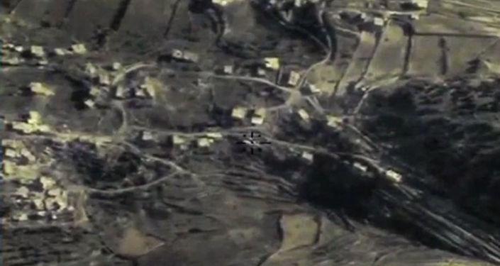 Zniszczenie przez Siły Lotniczo-Kosmiczne Rosji punktu strategicznego bojowników w prowincji Latakia