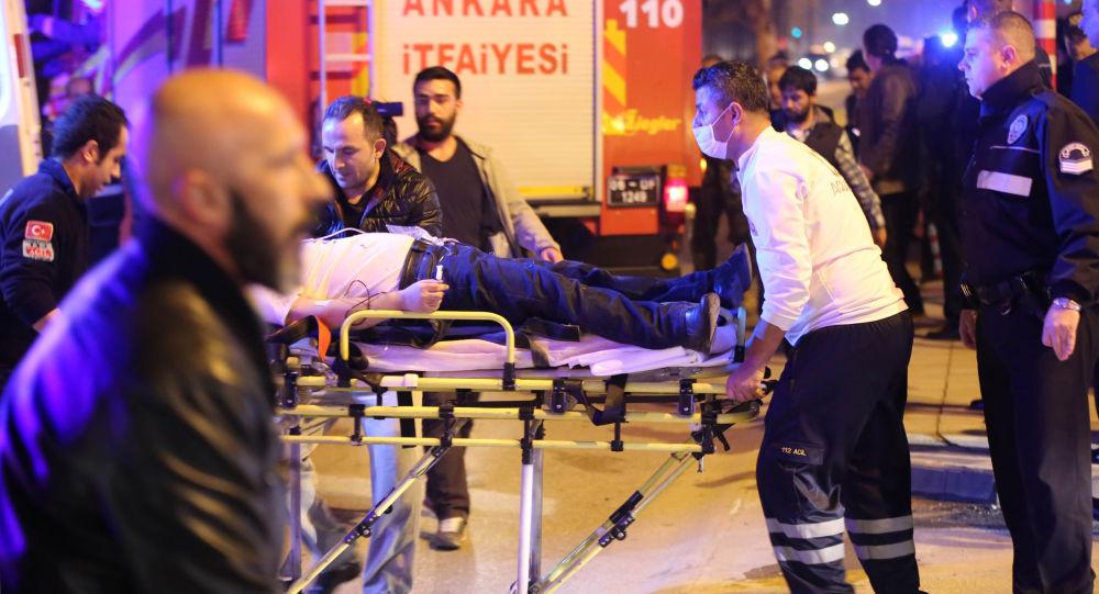 Pogotowie na miejscu eksplozji w Ankarze