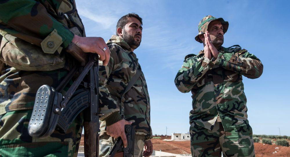 Żołnierze syryjskiej armii