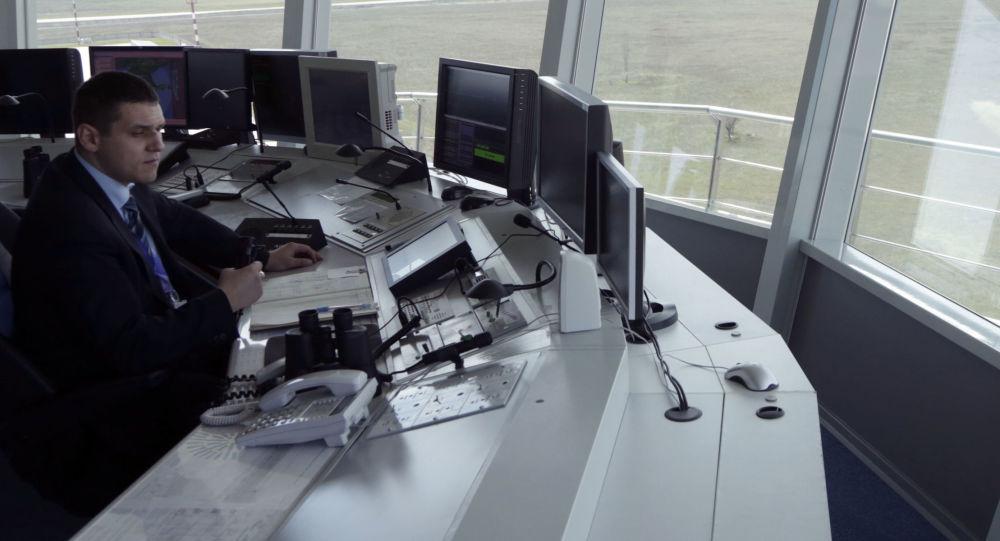 Pracownik Centrum Kontroli Lotów lotniska Symferopol