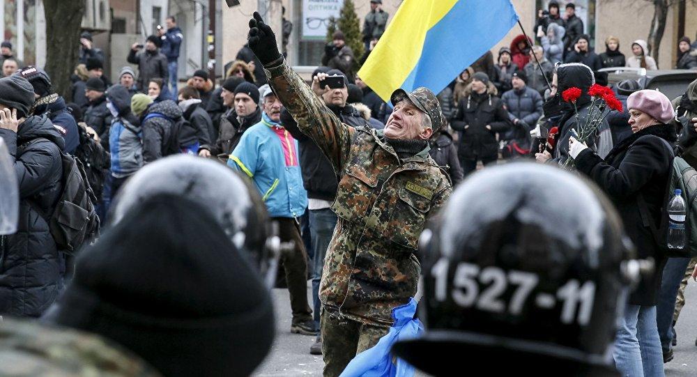 Protesty na Placu Niepodległości w Kijowie