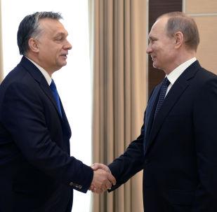 Premier Węgier Wiktor Orban i prezydent Rosji Władimir Putin