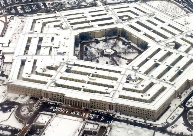 Widok na budynek Pentagonu w Waszyngtonie, USA