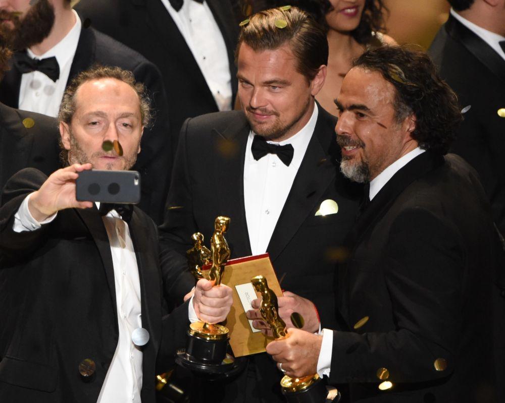 Emmanuel Lubezki, Leonardo DiCaprio i Alejandro Gonzalez Inarritu