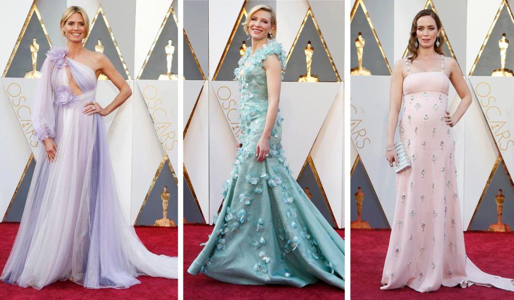 Aktorki Heidi Klum, Kate Blanchett i Emily Blunt przed 88. ceremonią wręczenia Oscarów