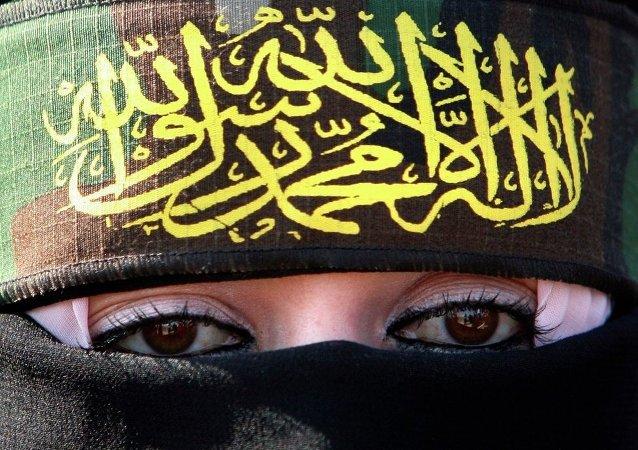 Kobieta popierająca dżichad
