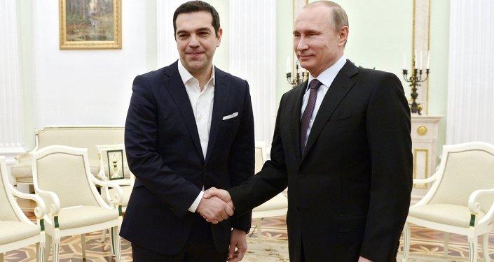 President Vladimir Putin meets with Prime Minister of Greece Alexis Tsipras