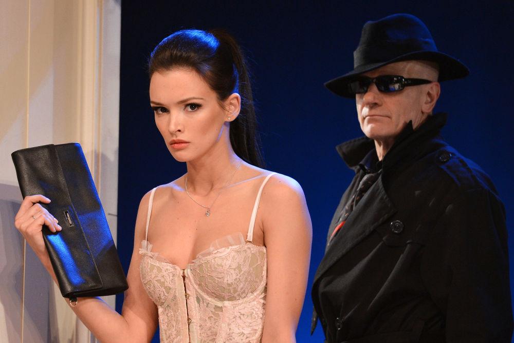 Paulina Andrejewa i Leonid Timcunik na scenie Moskiewskiego Akademickiego Teatra Artystycznego