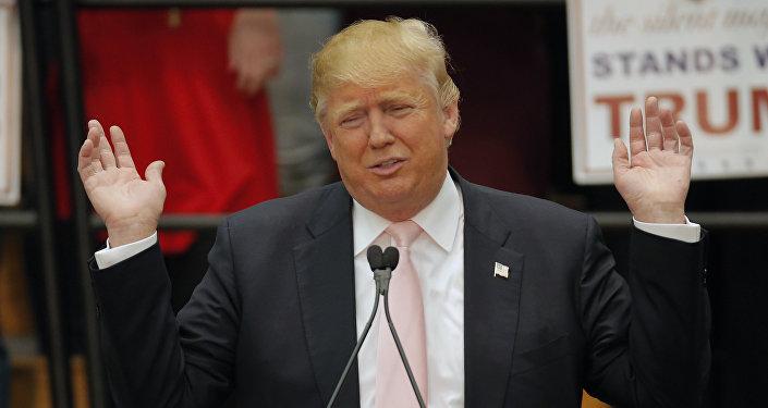 Kandydat na prezydenta Stanów Zjednoczonych Donald Trump