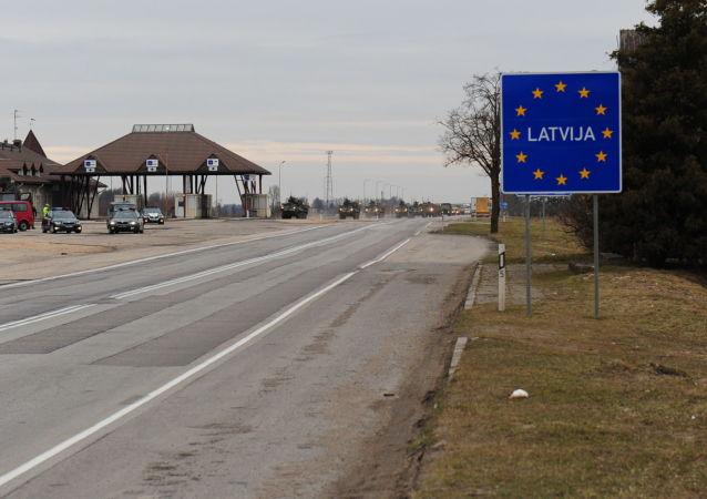 Wjazd na terytorium Łotwy