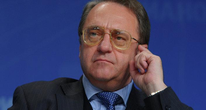 Specjalny przedstawiciel rosyjskiego prezydenta Władimira Putina do spraw Bliskiego Wschodu, wiceszef MSZ Michaił Bogdanow