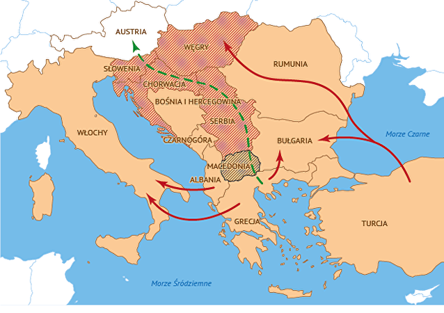Trasa ruchu migrantów