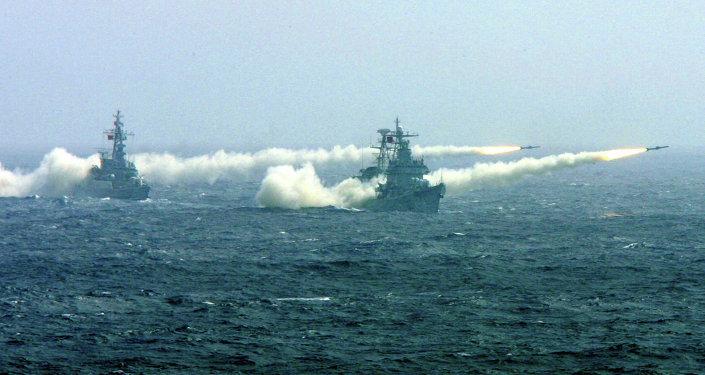 Okręty wojenne na Morzu Południowochińskim