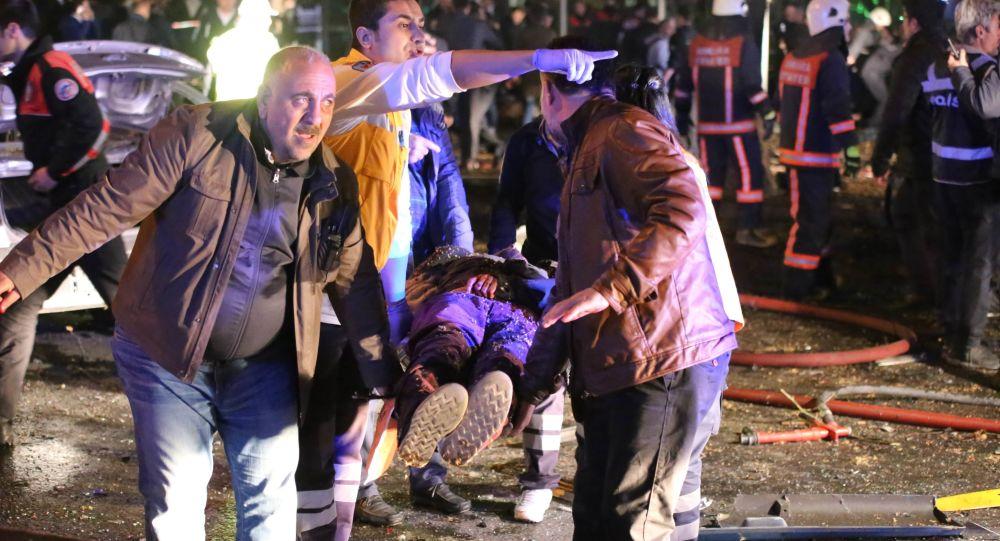 Miejsce wybuchu w Ankarze