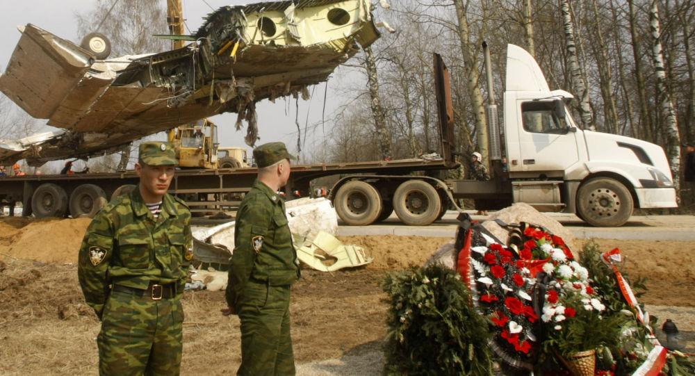 Miejsce katastrofy Tu-154 pod Smoleńskiem