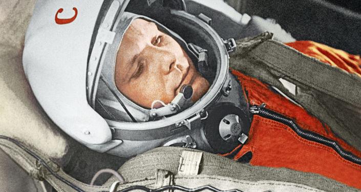 Radziecki kosmonauta, pierwszy człowiek w przestrzeni kosmicznej Jurij Gagarin