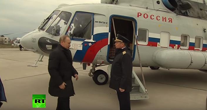Putin skontrolował budowę mostu przez Cieśninę Kerczeńską