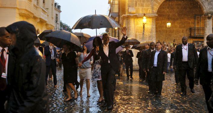Prezydent USA Barack Obama na Kubie