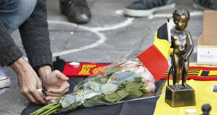Solidarność z ofiarami zamachów w Brukseli