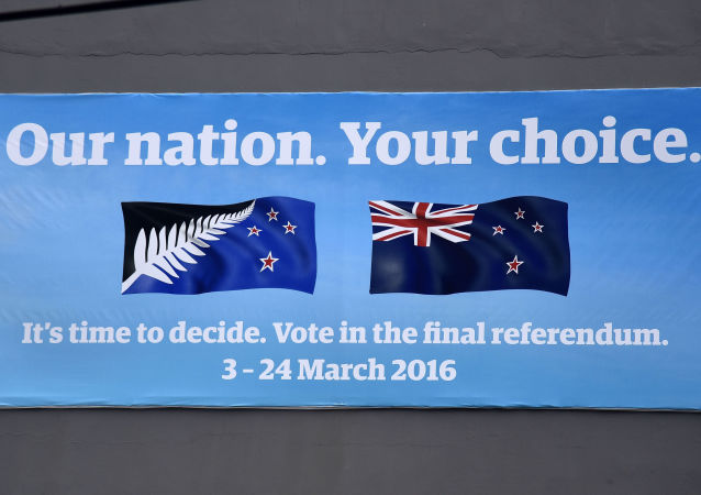 Plakat referendum na temat nowej flagi Nowej Zelandii
