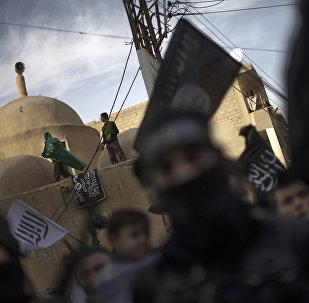 Dżihadyści z organizacji terrorystycznej Państwo Islamskie
