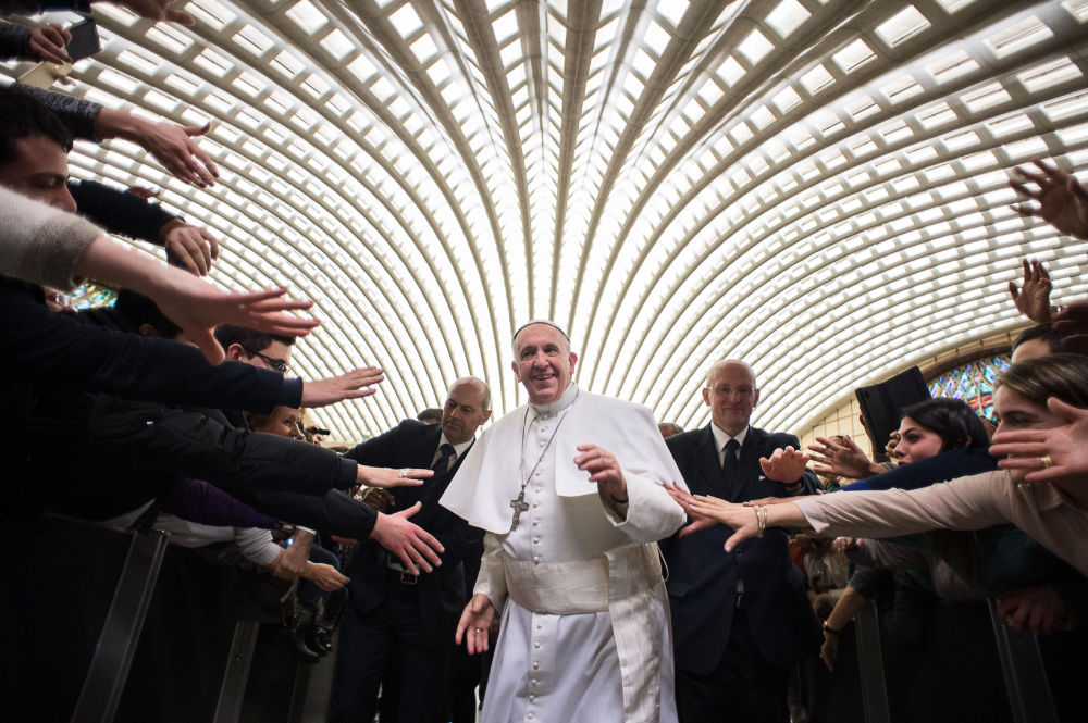 Papież Franciszek w Watykanie, 21 lutego 2015
