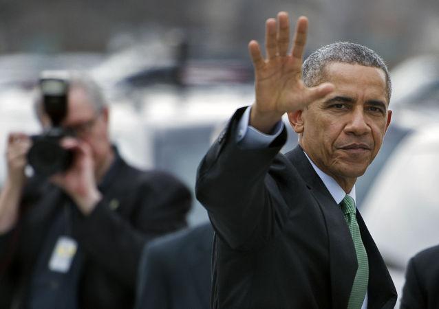 Prezydent USA Barack Obama w Waszyngtonie, 17 marca 2015