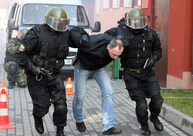 Ćwiczenia policji