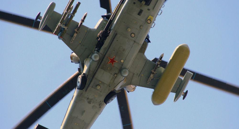 Rosyjski śmigłowiec uderzeniowy Ka-52