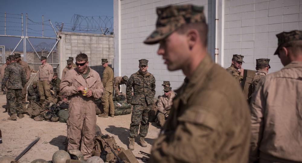 Amerykańscy żołnierze podczas ćwiczeń szkoleniowych w Korei Południowej