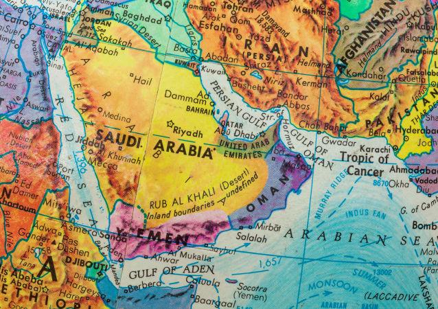 Mapa Bliskiego Wschodu i krajów Zatoki Perskiej