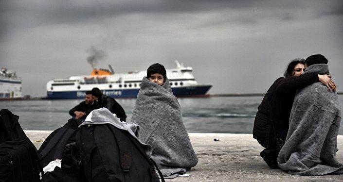 Imigranci na greckiej wyspie Lesbos