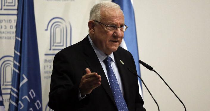 Prezydent Izraela Reuven Rivlin w Jerozolimie