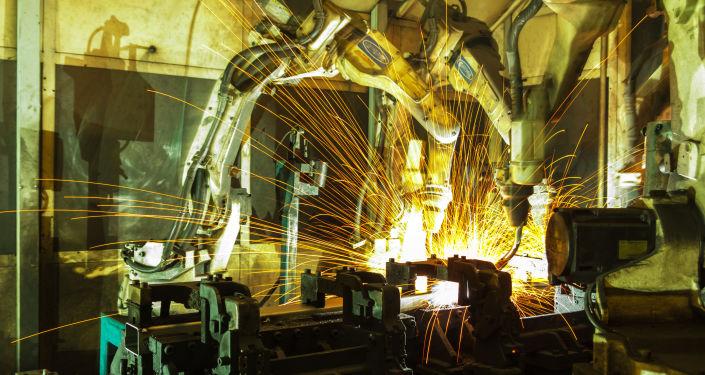 Robot do spawania metali