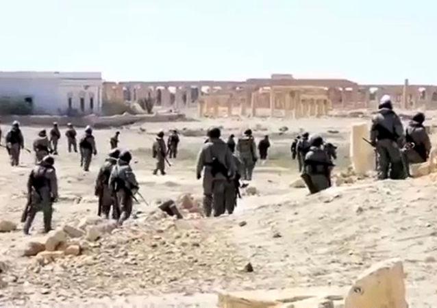 Rosyjscy saperzy rozminowują historyczną część Palmyry