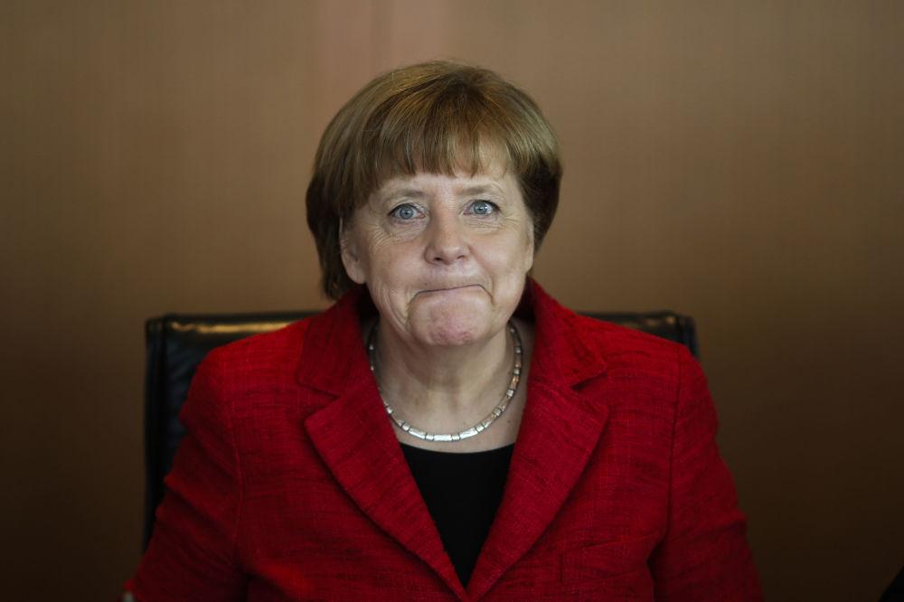 Kanclerz Niemiec Angela Merkel w Berlinie